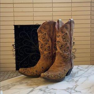 Dan Post suede monarch boots size 8 1/2